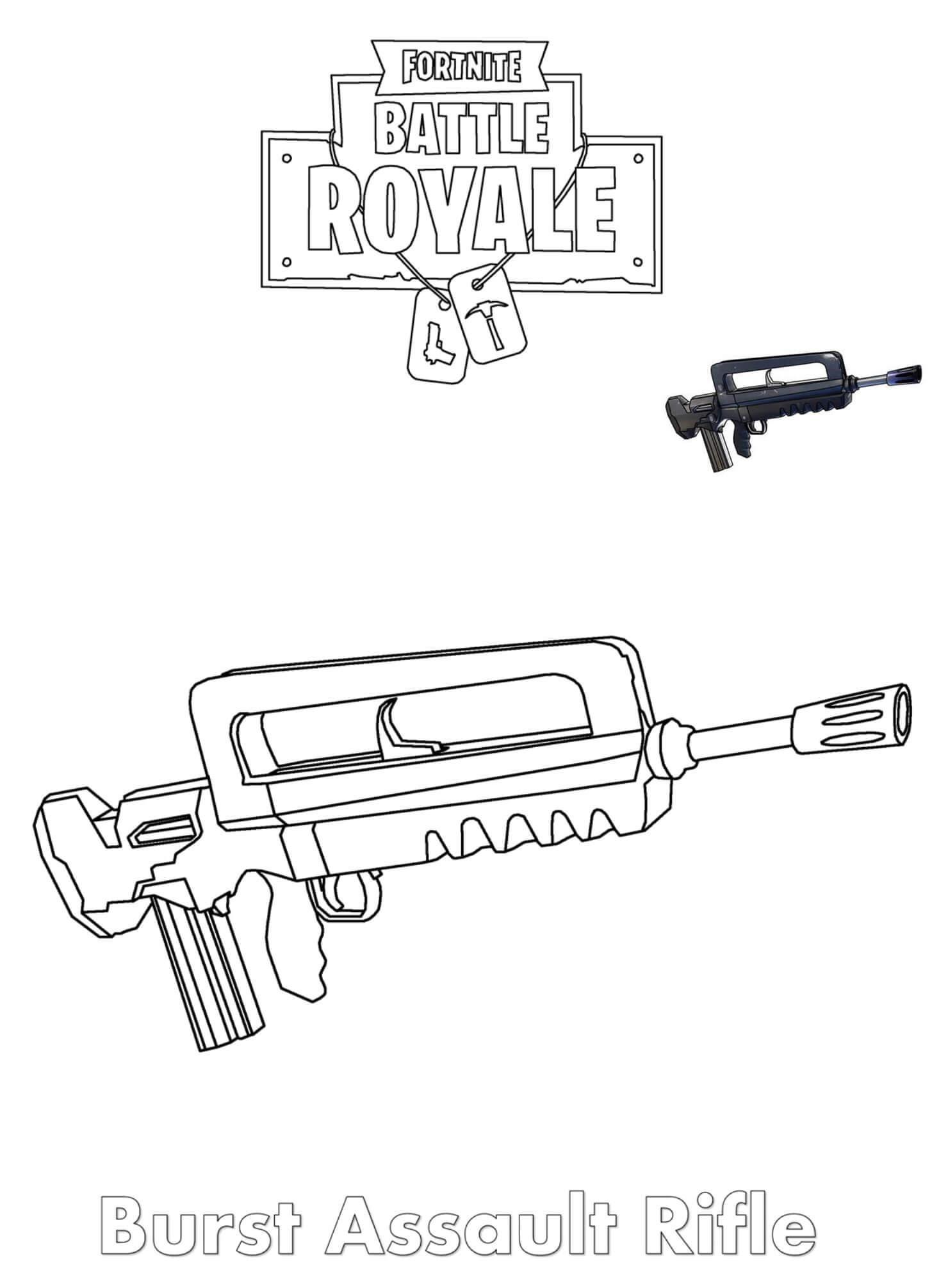 розмальовка Burst Assault Rifle