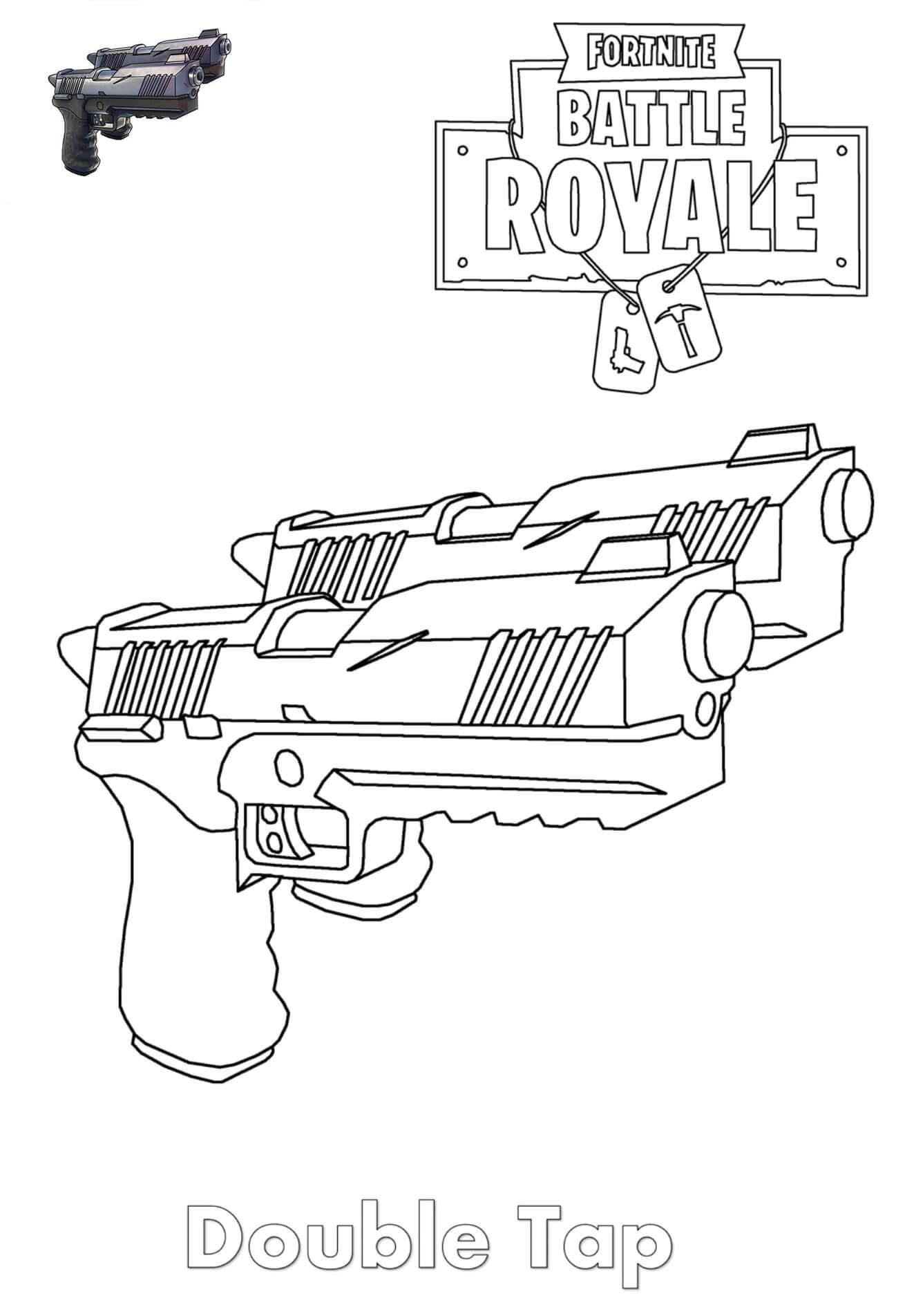 розмальовка Подвійні пістолети