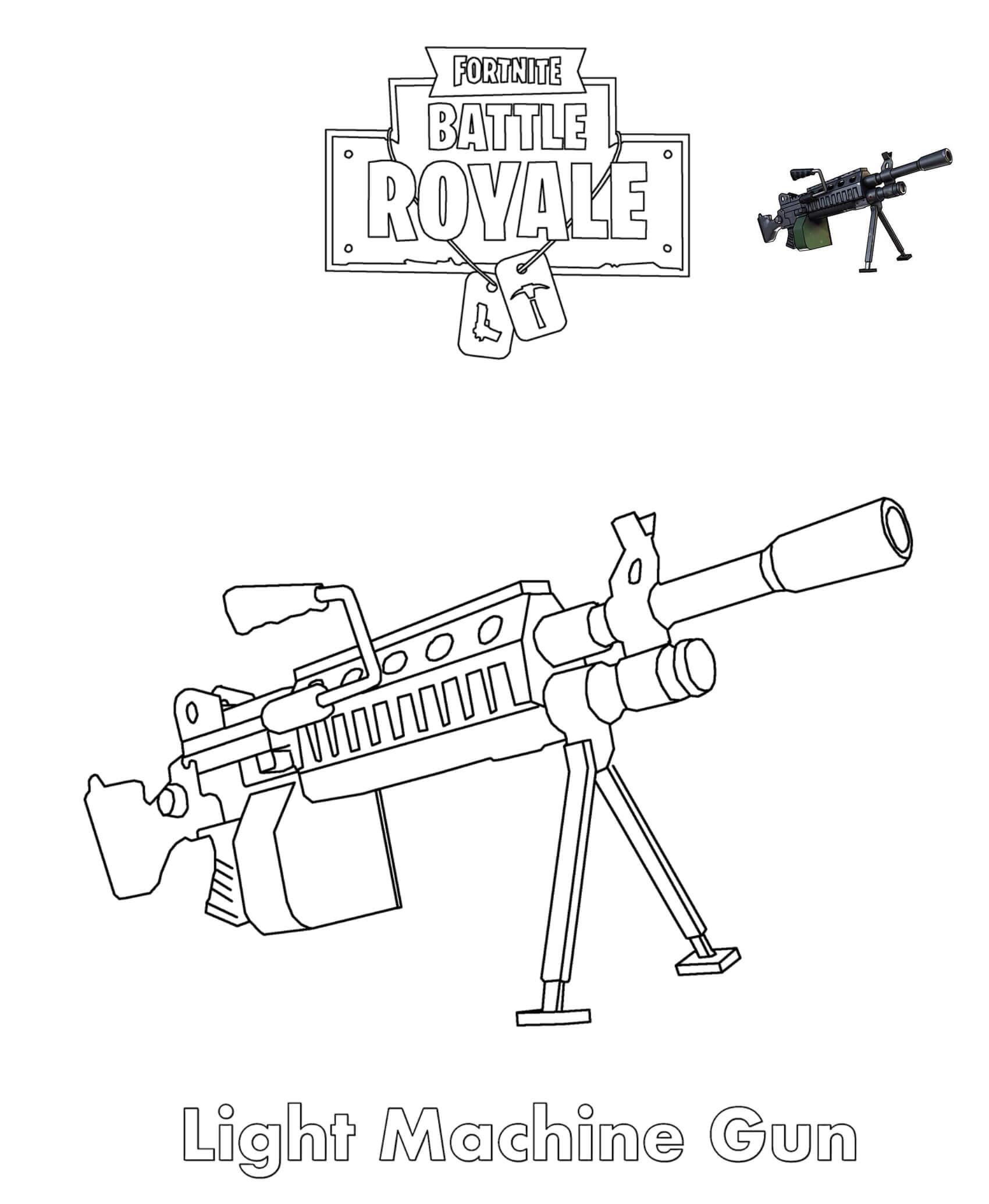 розмальовка Легкий пістолет-кулемет