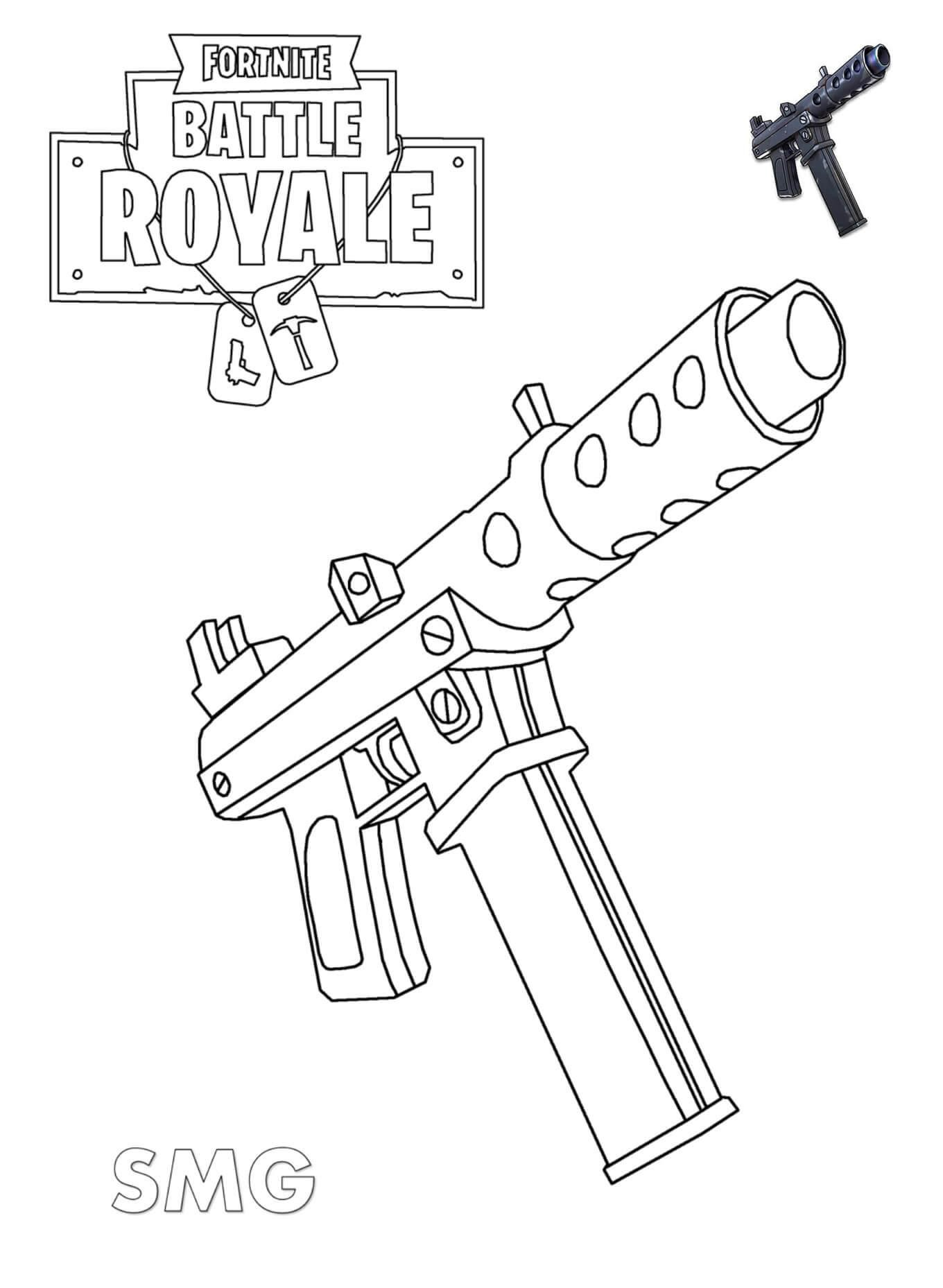 розмальовка Пістолет-кулемет
