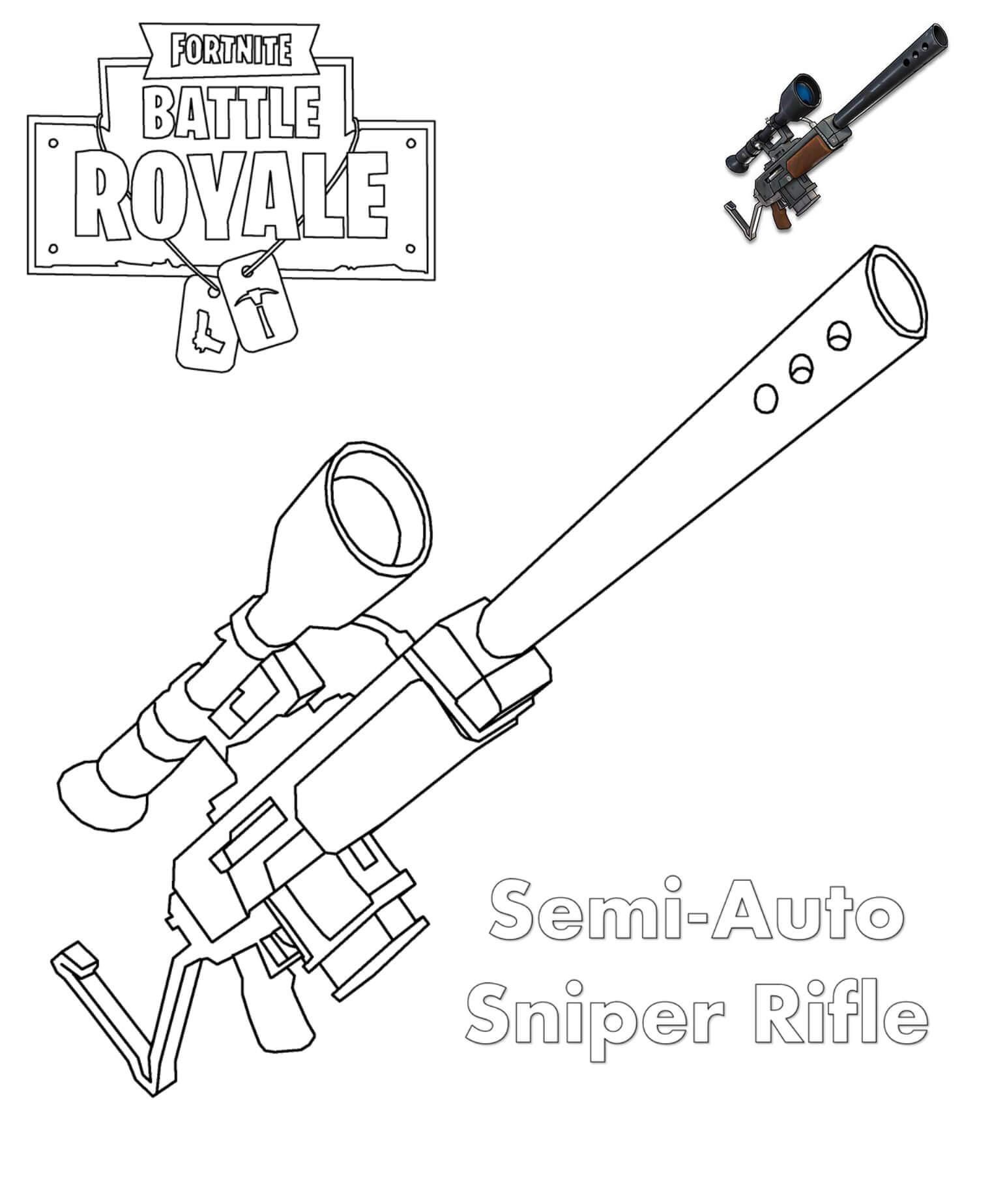 розмальовка Швидкострільний снайперський карабін